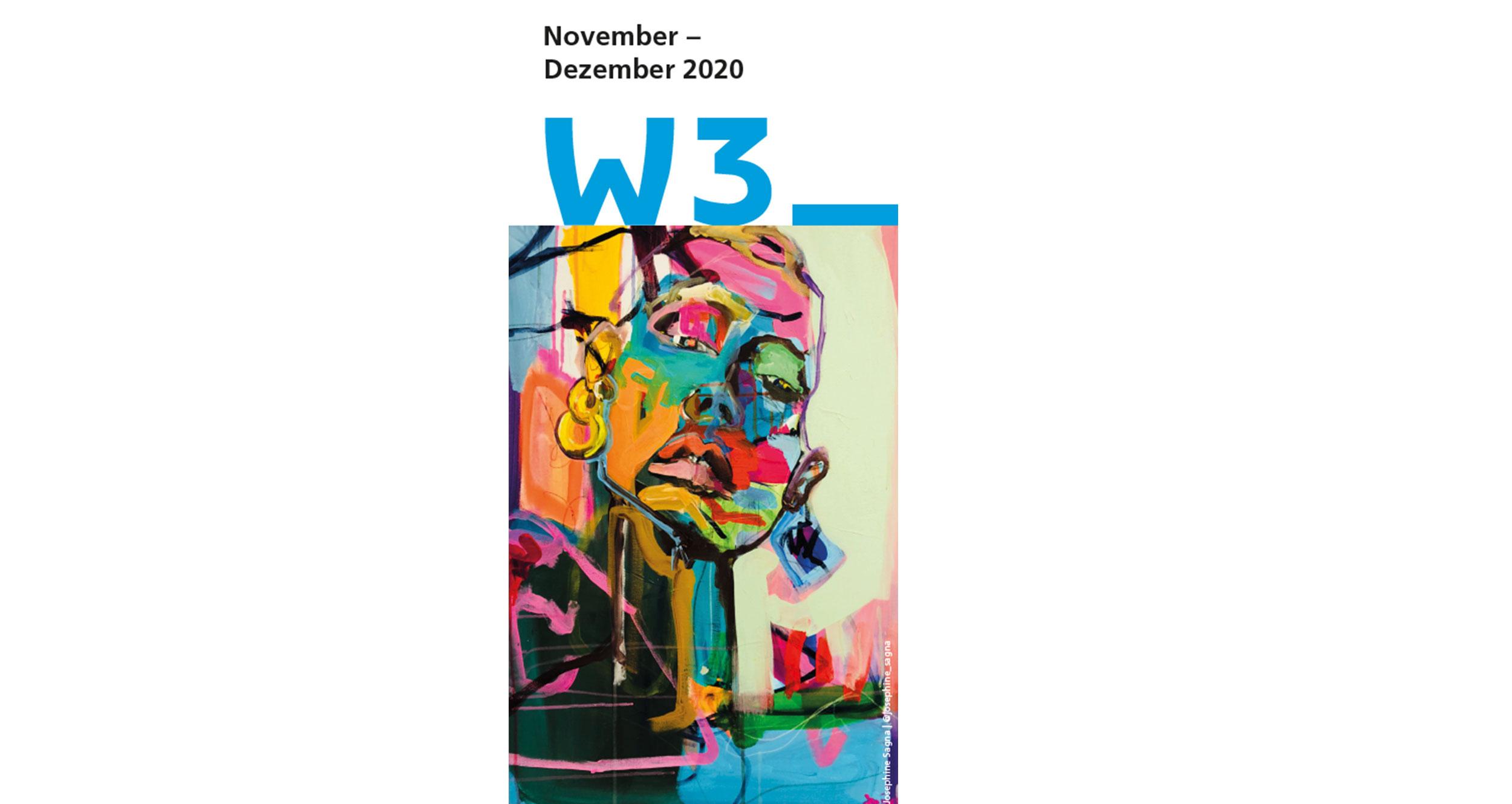 Cover des W3_Programmflyers November - Dezember 2020 von Josephine Sagna