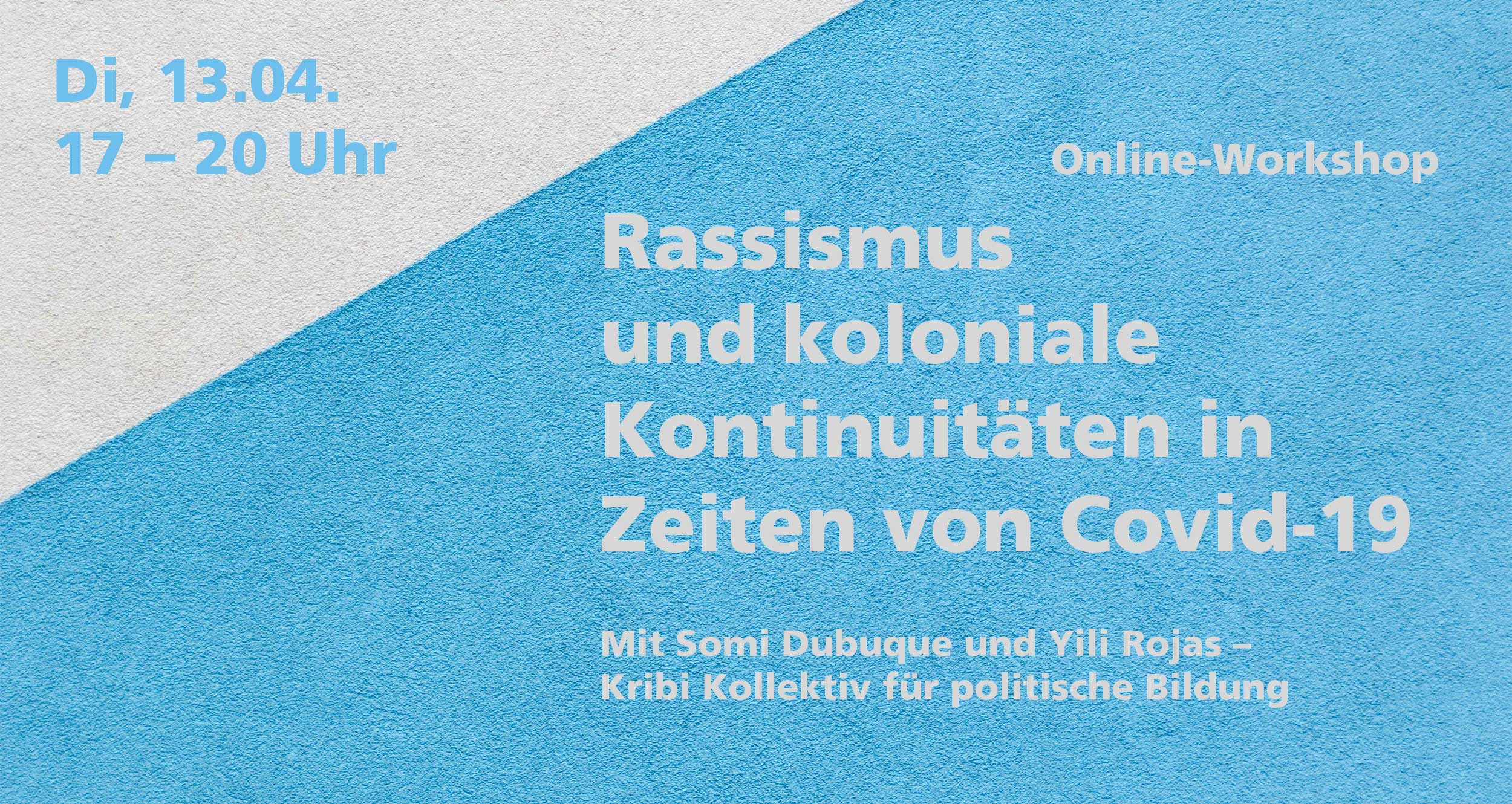 Grafik zur Veranstaltung Rassismus-und-koloniale-Kontinuitäten.Credits: Wallpaper Paweł Czerwiński/Unsplash