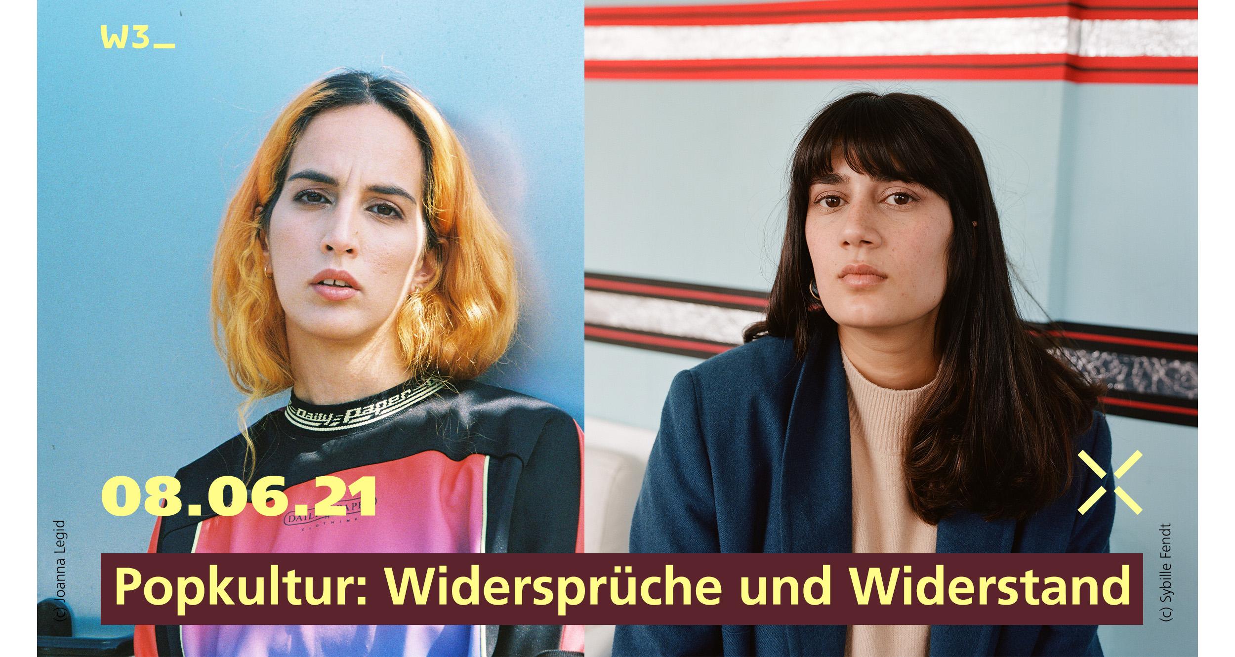 Veranstaltungsbild Neue Deutsche Analysen. Credits: Ebow / Joanna Legid; Fatma Aydemir/ Sybille Fendt
