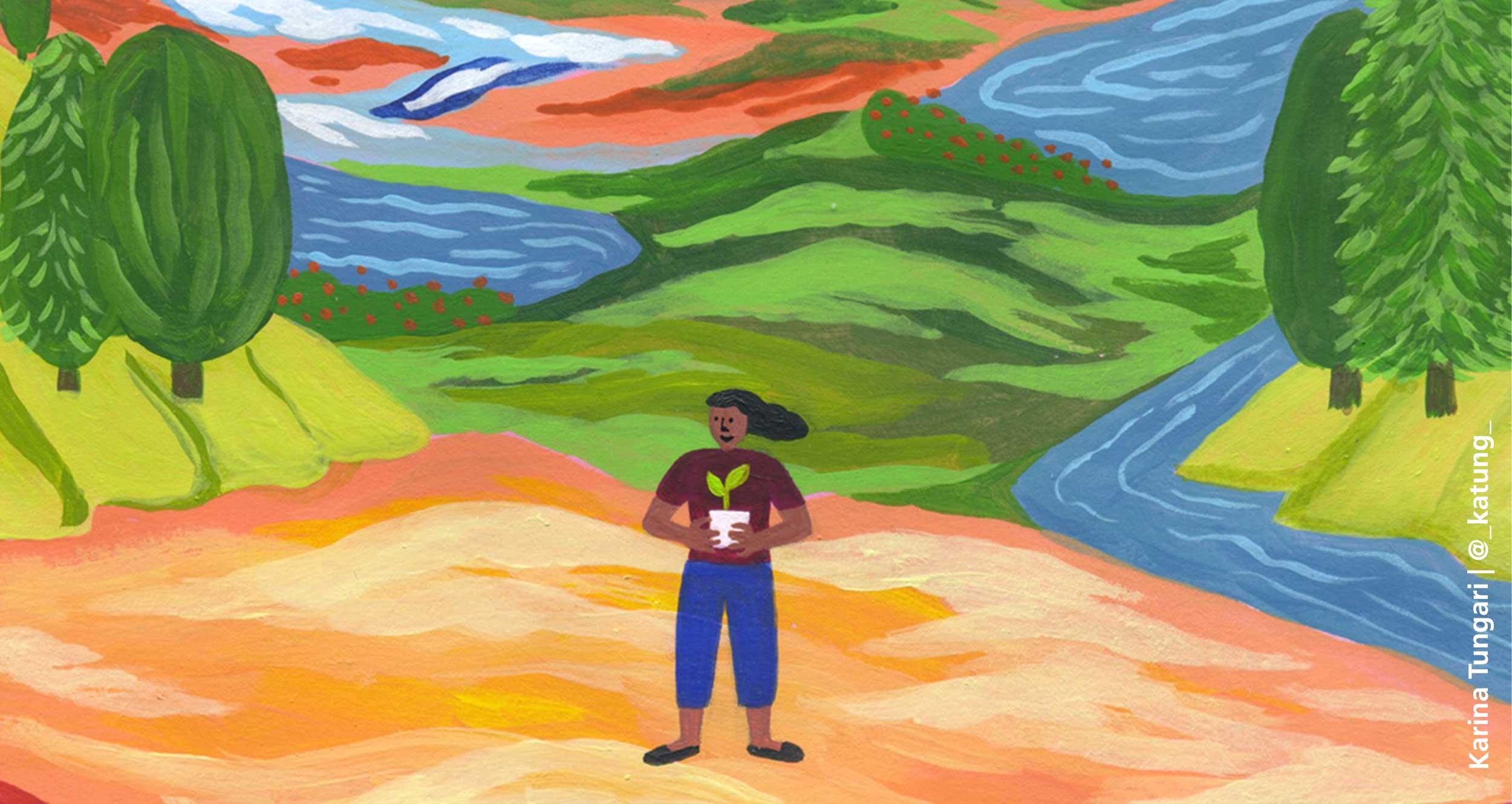Ausschnitt aus der Illustration für den Programmflyer Mai - Juni von Karina Tungari