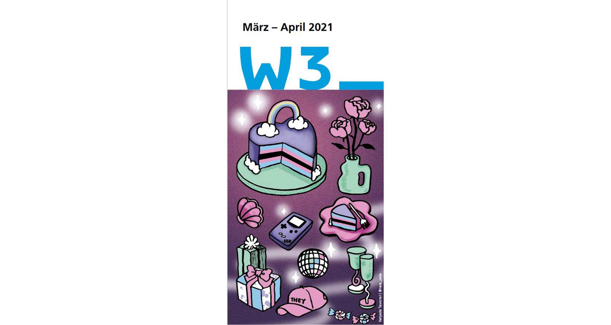 Cover des Programmflyers März + April 2021 gestaltet von Natyada Tawonsri