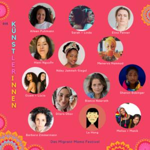 Übersicht Künstlerinnen MIgrant Mama Festival (c)Migrant Mama