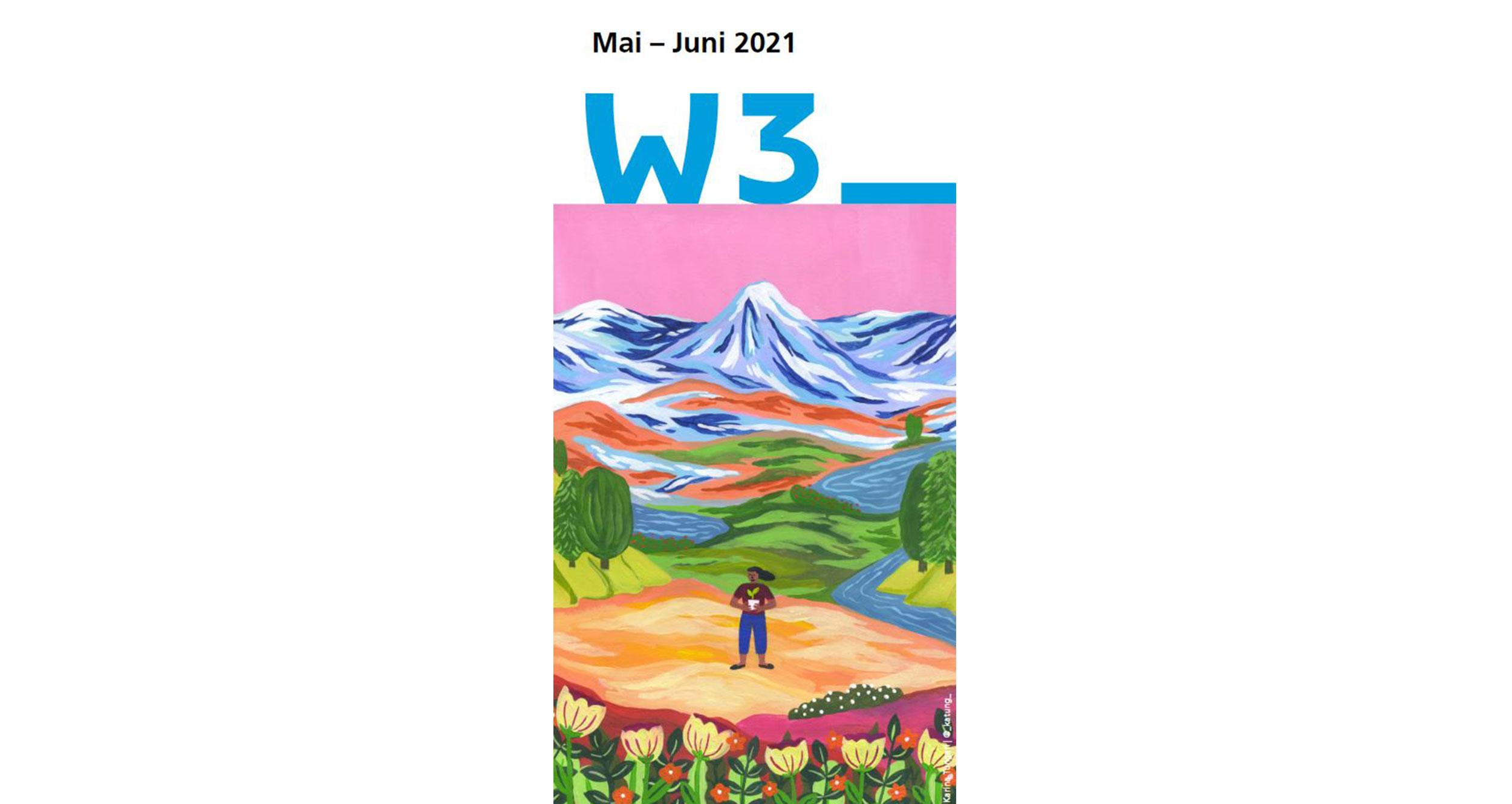 Programmcover Mai-Juni mit Illustration von Karina Tungari