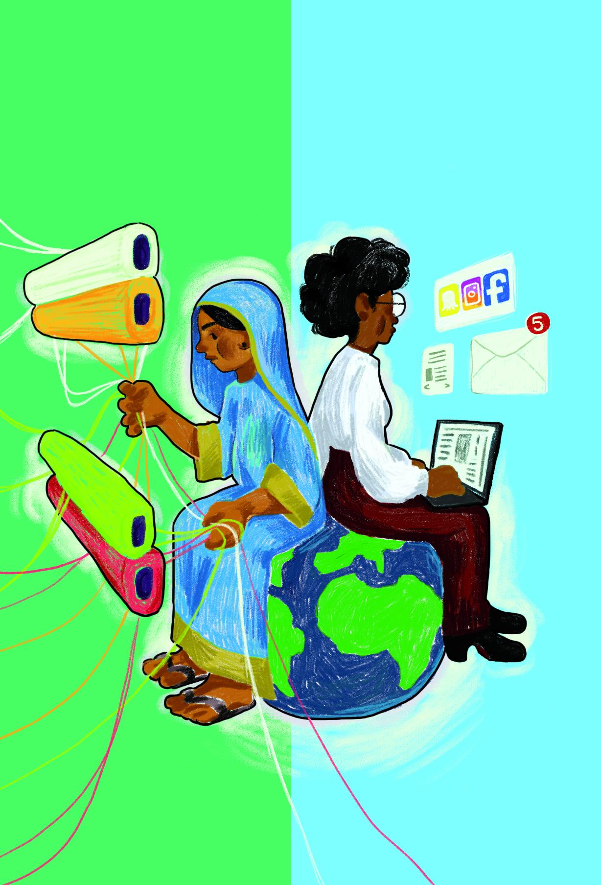 Illustration von Vivian Mule für den Programmflyer Jannuar - Februar 2021